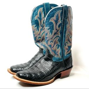 Justin Boots Caiman Western Cowgirl Boots 7B